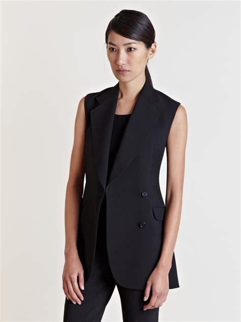 Blazer Li Yang Li Womens Sleeveless Blazer In Black Lyst