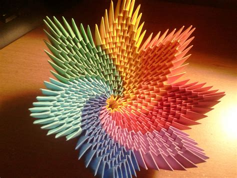 tutorial origami 3d in italiano how to make rainbow spiral vase bowl origami and