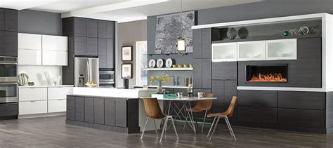 Modern Walnut Kitchen Cabinets by Distinctive Semi Custom Cabinets Amp Fine Cabinetry Kemper
