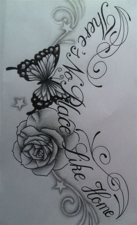 chest tattoo designs drawings images of roses and butterfly tattoos butterfly