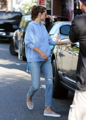 Alessandra Ambrosio Cleans Car by Alessandra Ambrosio Heads To Car In Brentwood