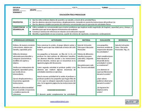 planeaciones y actividades de primaria planeaciones de educaci 211 n f 205 sica preescolar by gabriel
