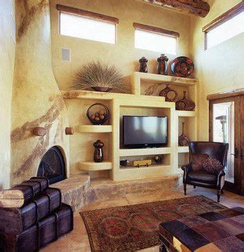 Kiva Style Fireplace by Kiva Fireplace And Pueblo Design Adobe House Interiors