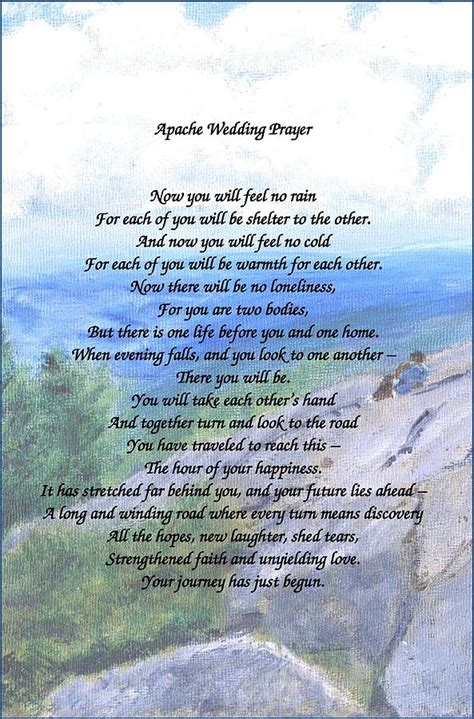 wedding blessing and benediction apache wedding prayer painting by feinberg