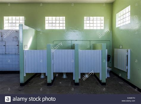 jail bathroom male toilet cubicles in a prison bathroom on robben island