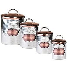 copper canister for a kitchen barh and beyond in greenville nc kitchen canisters glass canister sets for coffee bed bath beyond