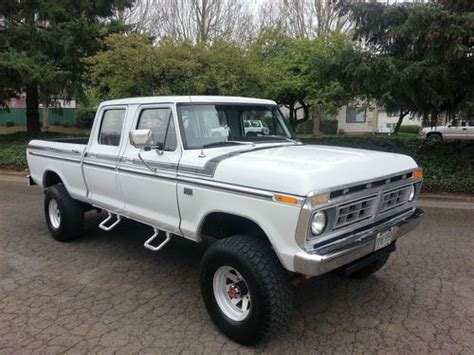 1974 ford crew cab for sale buy used 1974 ford f 250 crew cab 4x4 highboy auto v8 460