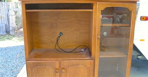 her old tv cabinet was useless until she transformed it