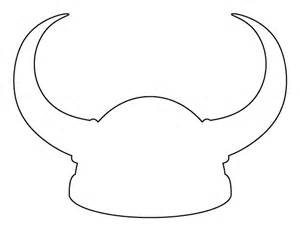 viking helmet pattern use the printable outline for