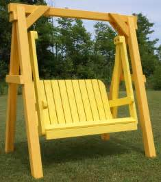 free standing porch swing plans woodworking projects amp plans