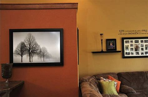burnt orange paint color burnt orange accent wall that contrasts with the golden hue of