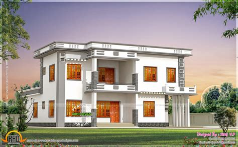 contemporary villa in different color combinations home kerala plans
