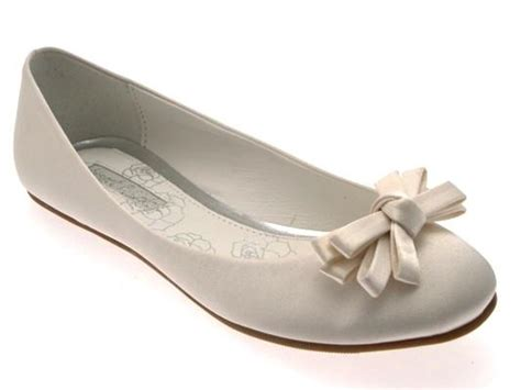 Womens Flat Wedding Shoes by Womens Low Heel Flat Satin Ballet Pumps Bow Bridal Prom
