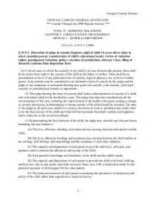 Sle Custody Agreement by Ga Custody Stat Parenting Plan