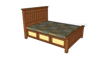 bed designs plans size storage bed plans howtospecialist how to