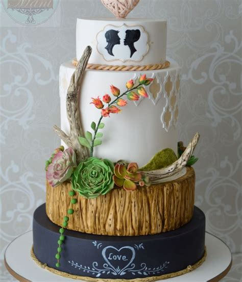 Wedding Cake With Succulents by Top Succulent Wedding Cakes Cakecentral