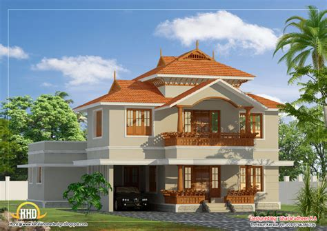 kerala style home design and plan home design most beautiful houses in kerala beautiful