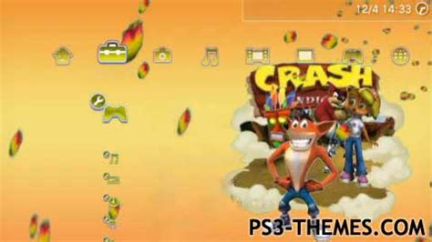 ps4 themes crash ps3 themes 187 crash bandicoot dynamic