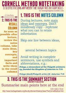 note taking templates for highschool students study tip the cornell method of note taking study read