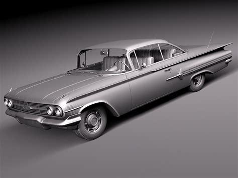 chevrolet 1960 models chevrolet impala 1960 coupe 3d model 3d model max obj