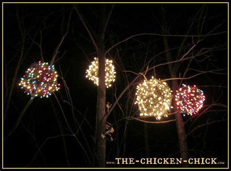 the chicken chick 174 chicken wire lighted christmas balls