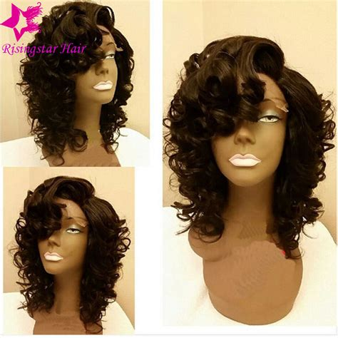 aliexpress lace wig 7a glueless full lace short human hair wigs with bangs
