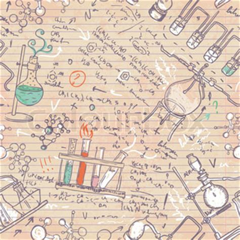 Pattern Lab Wiki | old chemistry laboratory seamless pattern vector colourbox