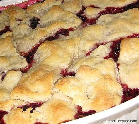 delightful repast: blackberry cobbler with no roll pie crust
