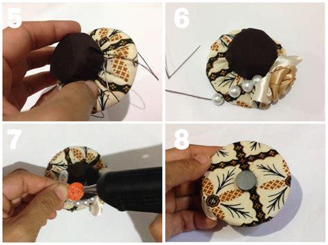 Hiasan Magnet Untuk Kulkas hiasan magnet kulkas dari tutup botol dan kain perca