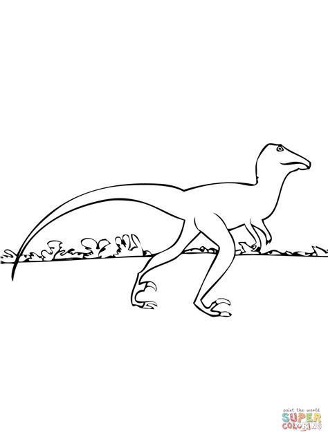 deinonychus coloring page coloring pages