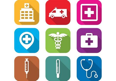 emergency room icon flat hospital icons free vector stock graphics images