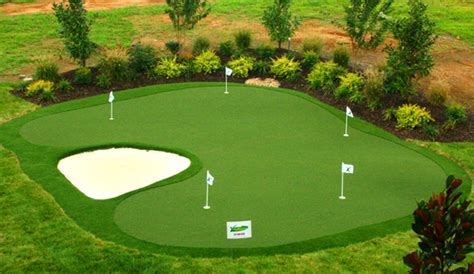 practice artificial backyard golf putting greens