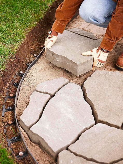 How To Install Patio Pavers How To Install A Flagstone Paver Patio