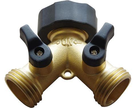 2 way garden hose splitter converts 1 spigot to 2 water