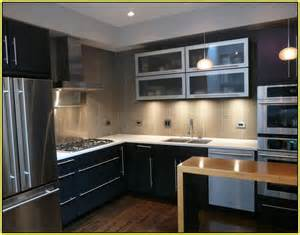 kitchen backsplash for dark cabinets glass tile ideas youtube