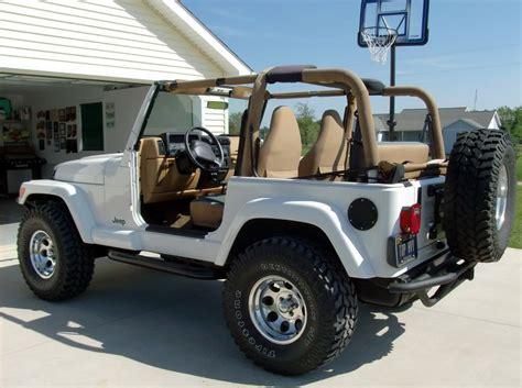 white lifted jeep wrangler car interior design