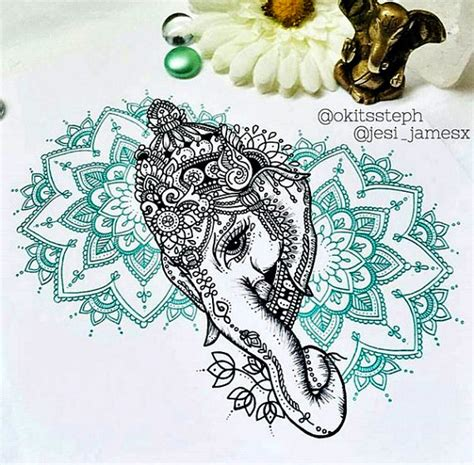 ganesh mandala tattoo ganesh mandala collaboration series piece 1 print by