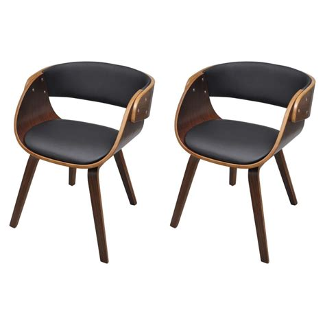 Dining Chair Set Of 2 Set Of 2 Dining Chair With Padded Bentwood Seat Vidaxl Co Uk
