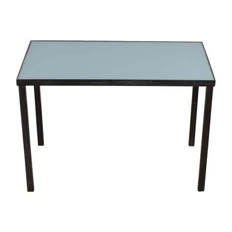 west elm glass desk steel shop desk best home design 2018