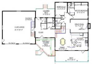 bi level home plans bi level house plan with a walkout 2011555 by e designs