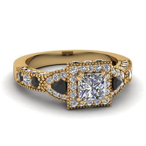 princess cut square nouveau vintage engagement ring