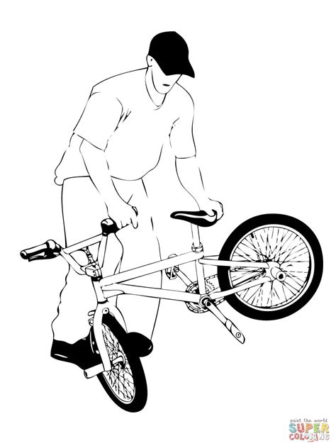 whiplash bmx coloring page free printable coloring pages