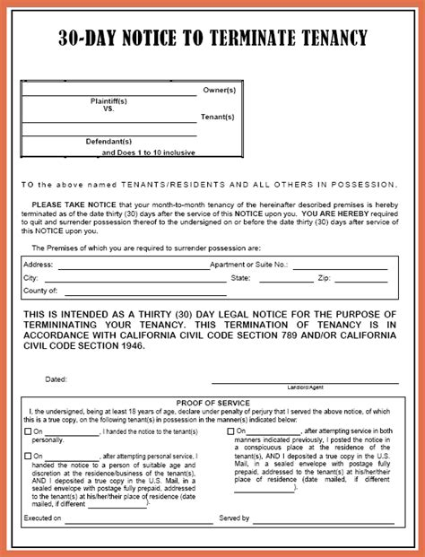 sle eviction notice letter florida 30 day eviction notice template 28 images 24 free