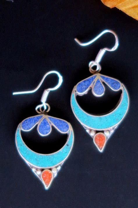 tibetan style tibetan style tribal jewelry spiral earrings