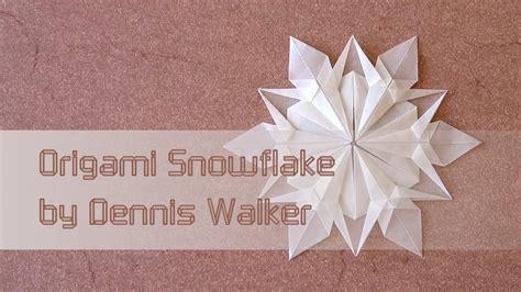 Easy Origami Snowflake - origami snowflake dennis walker