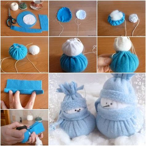 how to make home decoration things felt snowman holidays and diy tutorial on
