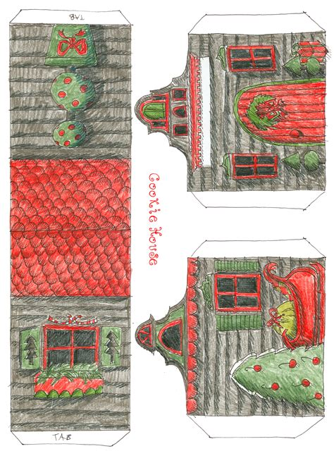 printable paper christmas houses 8 best images of printable template paper doll house