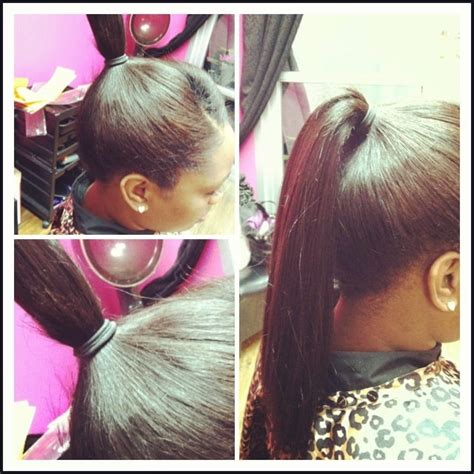 what hair good for sew in ponytail full sew in able to pull into a high ponytail yelp