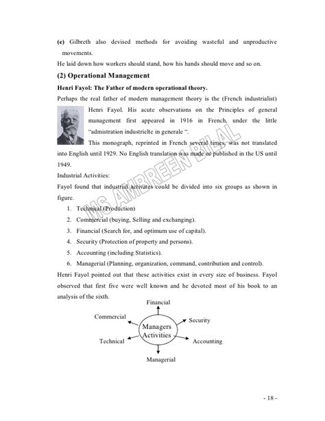 Mba Research Methods Lecture Notes by Principles Of Management Lecture Notes For Mba