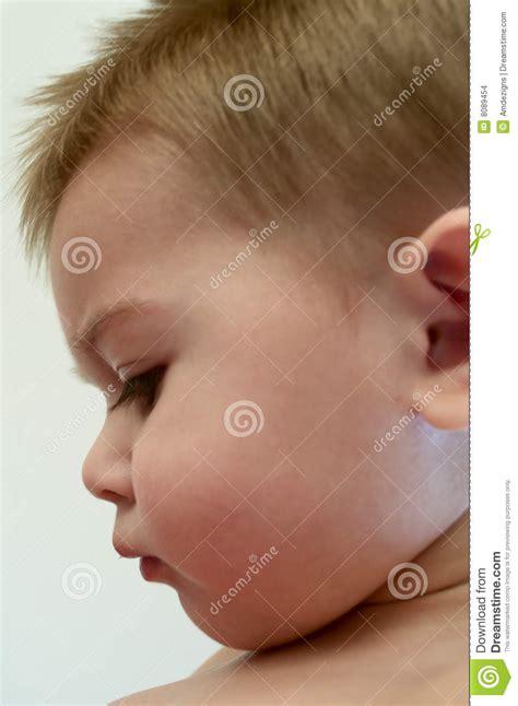 het profiel de baby stock foto afbeelding bestaande